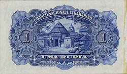041312 2 Portuguese India Banco Nacional Ultramarino Specimen Notes