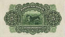 041312 4 Portuguese India Banco Nacional Ultramarino Specimen Notes