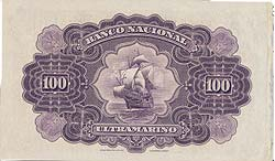 041312 6 Portuguese India Banco Nacional Ultramarino Specimen Notes