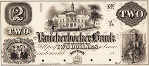 New York, NY- Knickerbocker Bank of the City of New York $2 G4a Proof