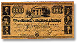 1840 $1,000 Bank of the United States